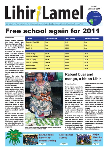 1 January Issue 2011
