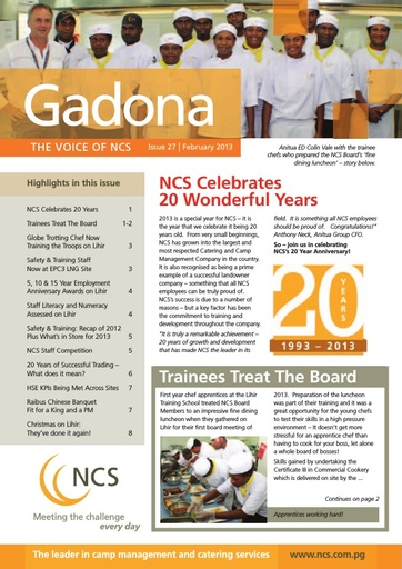 NCS Gadona   The Voice Newsletter February 2013