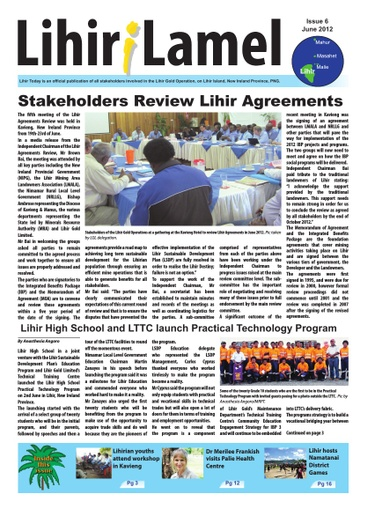 6 June Lihir i Lamel Issue 2012