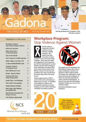 NCS Gadona   The Voice Newsletter October  2013 (web version)