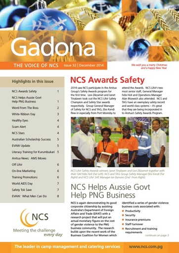NCS Gadona  Newsletter December 2014 (web version)