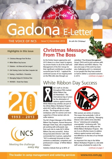 NCS Gadona   The Voice E Letter December 2013 (web version)