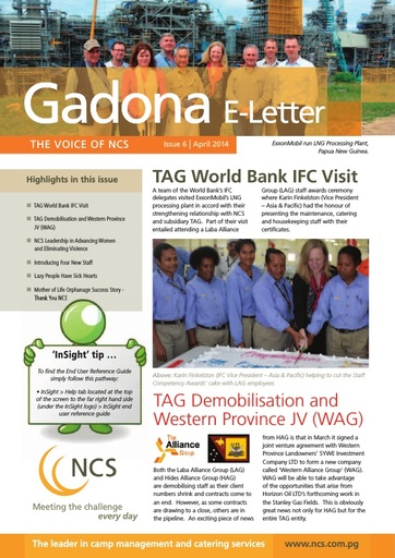 NCS Gadona   The Voice E Letter April 2014 (web version)