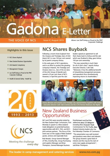NCS Gadona   The Voice E Letter August 2013