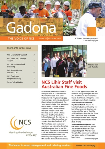NCS Gadona   The Voice Newsletter October 2012