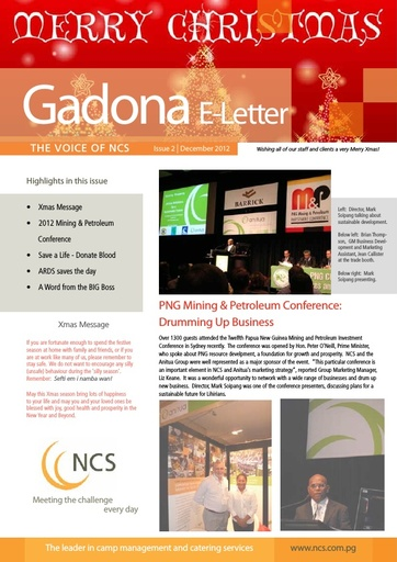 NCS Gadona   The Voice E Letter December 2012