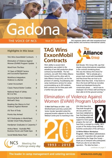 NCS Gadona   The Voice Newsletter June 2014 (web version)